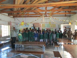 Furniture provided by WWE improves the learning environment at a rural Zimbabwe school serving large numbers of orphans.