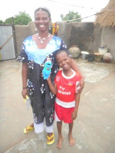 Stella and her son Michael are residents of Kubugu village in Ghana. Also featured is Cookie Monster, a resident of the United States.